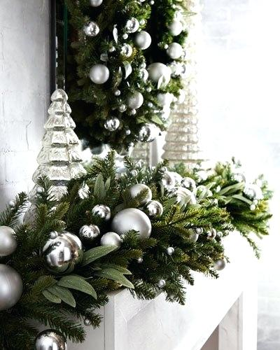 silver-and-white-christmas-decorations-green-ivy-leaf-silver -ball-garland-6-white-silver-christmas-tree-decorations-ideas